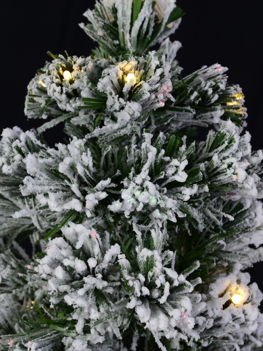 Snow Covered Christmas Tree With Led Star Topper, Fiber ...